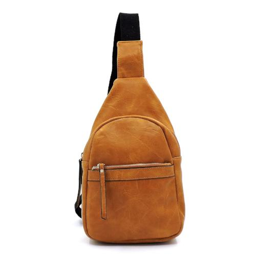 Crossbody Sling Backpack Mustard