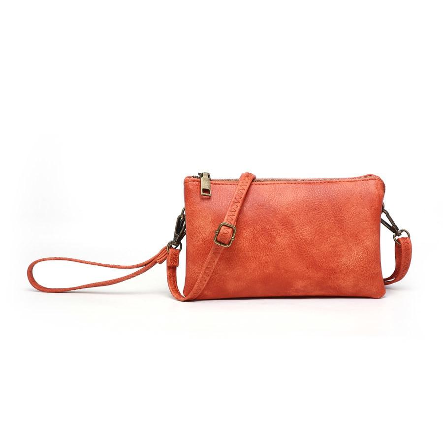 Fashion crossbody/wristlet Orange