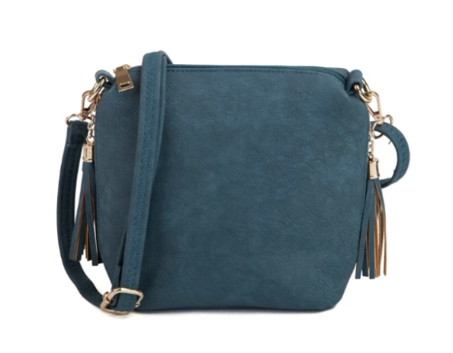 Monogrammable Side Pocket Crossbody Indigo