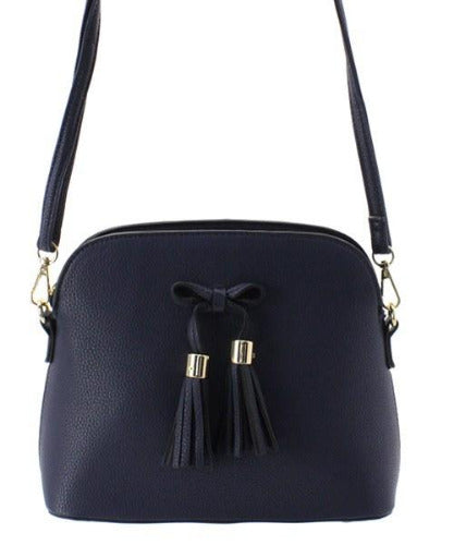 Tassel Bow Accent 3-Compartment Crossbody