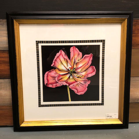 Matted/Framed Flower Pictures 4 / Set of 4