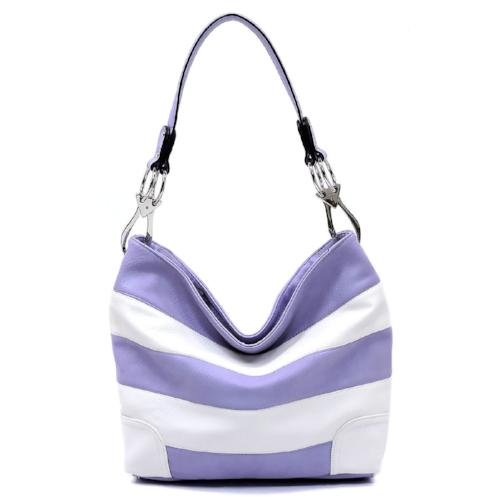 Classic Bucket Bag Lavender/White