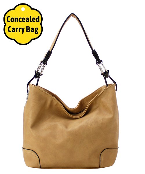 Fashion Bucket Concealed Carry Bag Beige