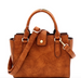 Padlock-Accent 2-Way Wing Satchel Strap