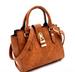 Padlock-Accent 2-Way Wing Satchel Side
