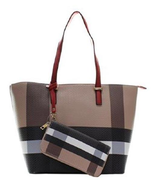 Plaid 2-in-1 Tote