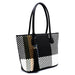 Woven Colorblock Shopper Side