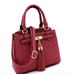 Tassel-Accent 3-Compartment 2-Way Satchel Side