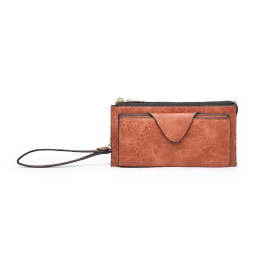 Vegan Leather Wallet Burnt Orange