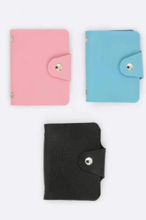 Ladies Card Wallet Assorted Colors