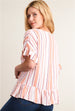 Striped Ruffle Hem Blouse Back