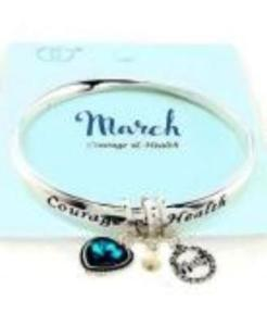 Birthstone Twist Bangle March