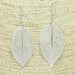 Real Aspen Leaf Earring