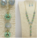 Beaded Flowers Long Necklace