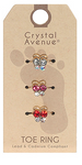 3 Piece Crystal Toe Ring Set Butterflies