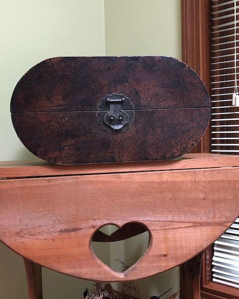 Antique Look Oval Box