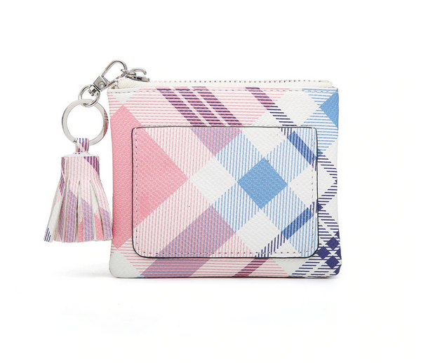 Coin Pouch/ID Holder with Tassel Accent