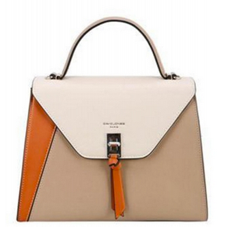 David Jones Colorblock Satchel Light Camel