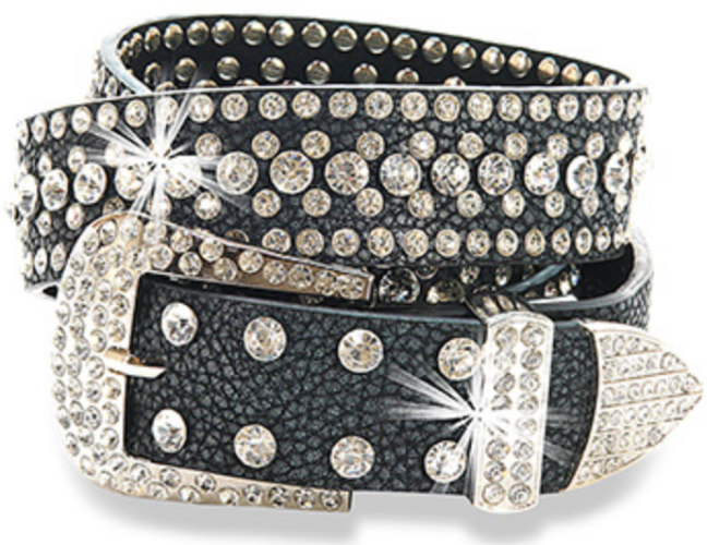 Premium Leather Rhinestone Belt