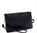 Versatile 5-Compartment Wristlet/Crossbody Black