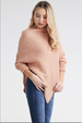 Speckled Poncho with Sleeves Side