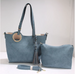 Tasseled Tote with Crossbody Strap 2-in-1