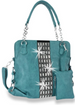 Gem Accented Tall Handbag Set Turquoise
