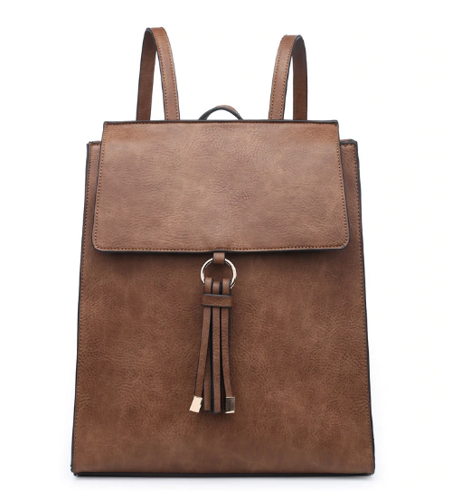 Convertible Structured Backpack Chestnut