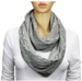 Floral Infinity Lace Scarf Grey