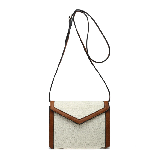 Structured Flap-Over Crossbody White