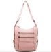 The Lisa Convertible Shoulder Bag/Backpack/Crossbody Pastel Pink