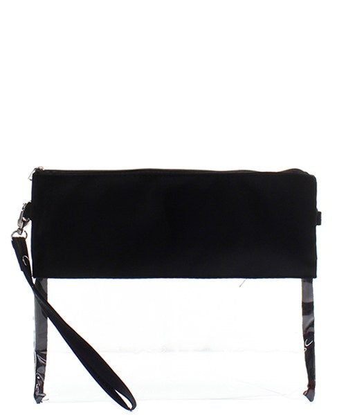 Clear Stadium Messenger Bag Black