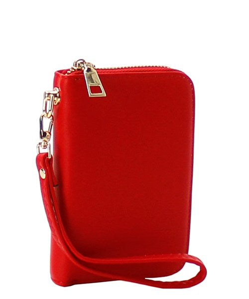 Small Faux Leather Wristlet/Wallet Red