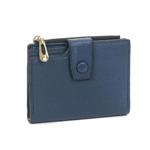 Front Snap Small Wallet Navy