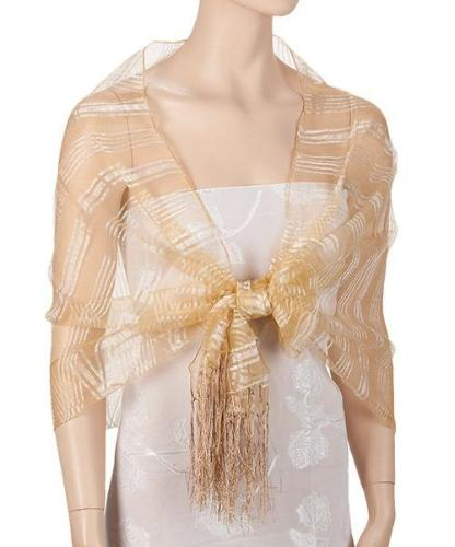 Wind Breeze Organza Wrap Gold