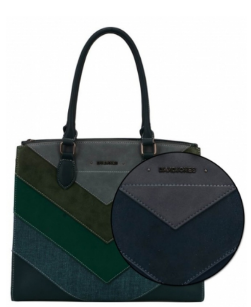 David Jones Satchel/Tote Green