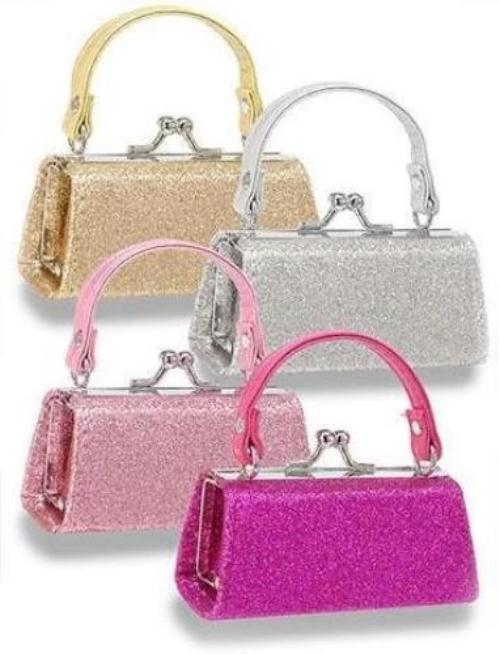 Glittery Lipstick/Coin Purse in Multiple Colors