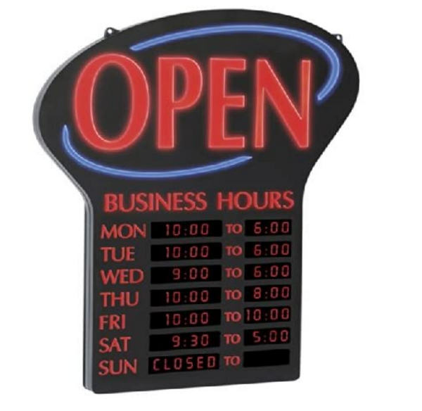 Newton LED Lighted Business Open Sign