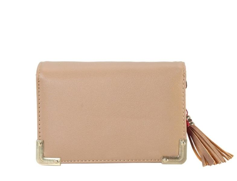 Multicolored Inside Medium Wallet Taupe