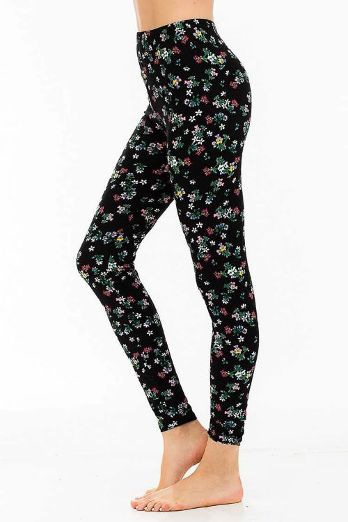 Peach Skin Garden Print Leggings