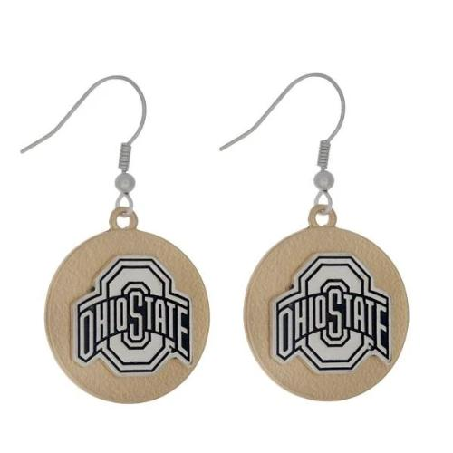 OSU Two Tone Fishhook Earrings