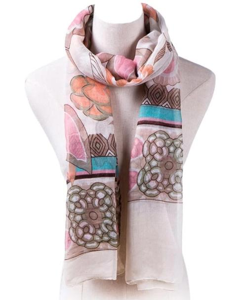 Mix Print Fashion Lightweight Scarf