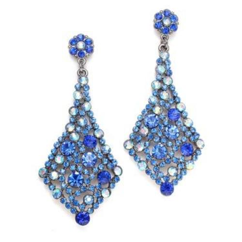 Royal Blue Crystal Bridesmaids/Prom Earrings