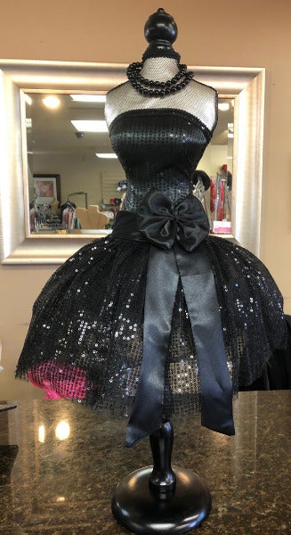 Sequin Dress Form On Stand (Mini Mannequin)