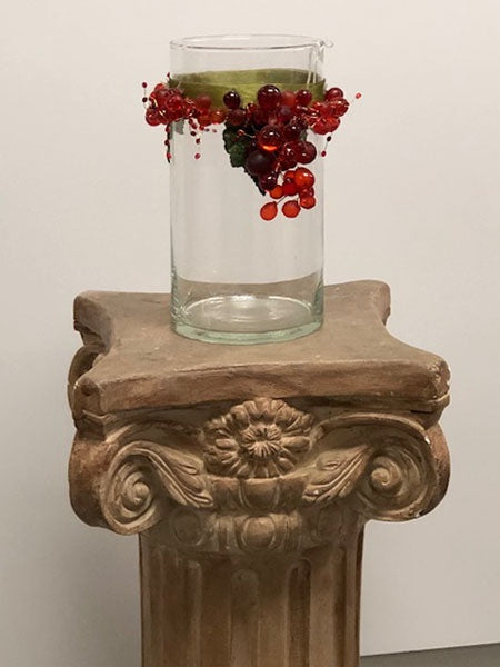 Holly Berry Christmas Vase