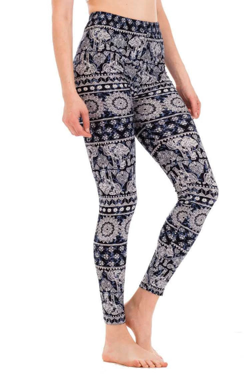 Hindu Elephant Print Leggings