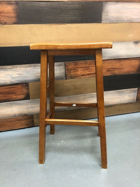 Wood Seat Counter Stool
