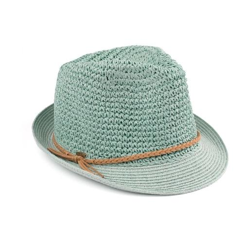 Fedora Hat with Braided Accent Mint