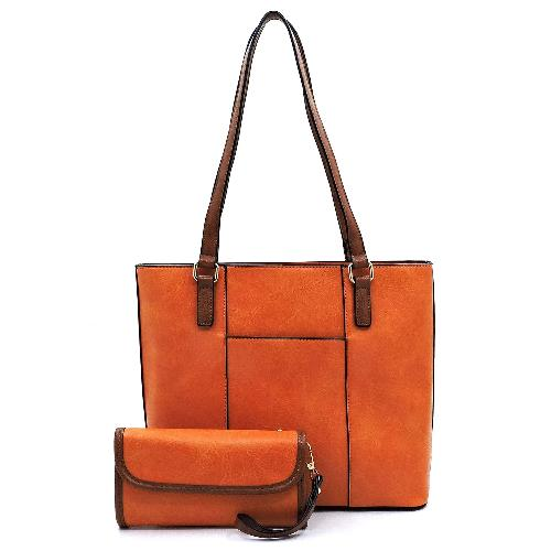 Front Pocket 2-in-1 Shopper Orange