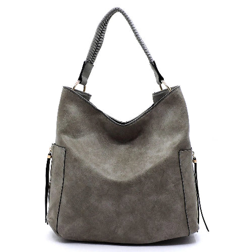 Side Zip Shoulder Bag